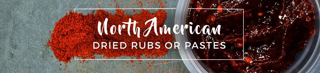 North american dried rubs or pastes