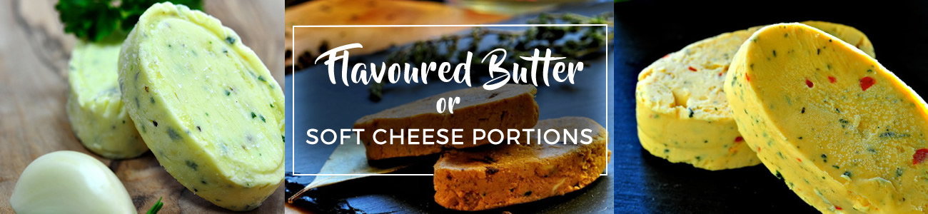 Flavoured butter and cheese portions from bowlander