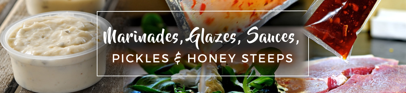 Marinades, glazes, sauces and honey steeps
